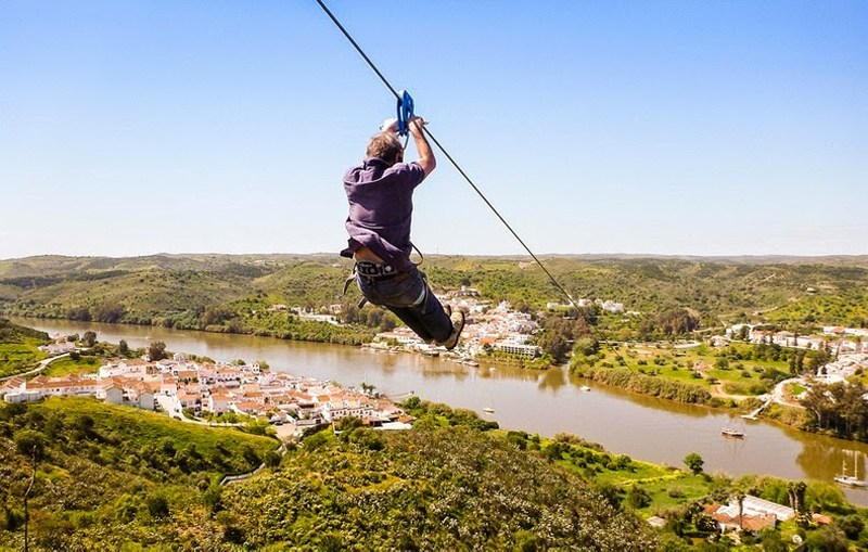 Portugal to Spain Zipwire the Algarve